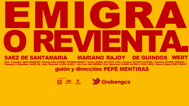 Photoshop para la democracia: Emigra o revienta